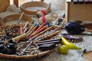 Instrumentenkarussell IKARUS Musikalische Früherziehung Musikgruppe Kinder Musikunterricht Freie Musikschule Wildau MKAW
